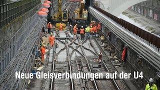 Neue Gleise für die U4 in Wien