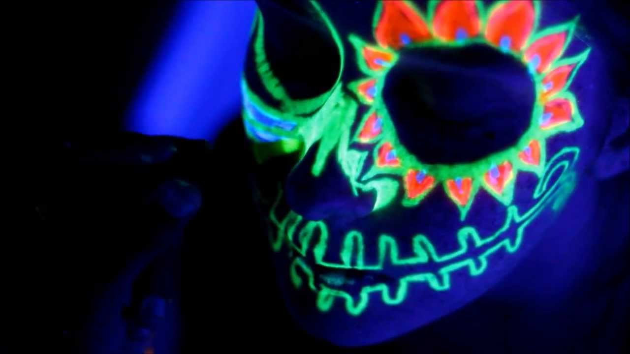 Glow In The Dark Face Paint Youtube