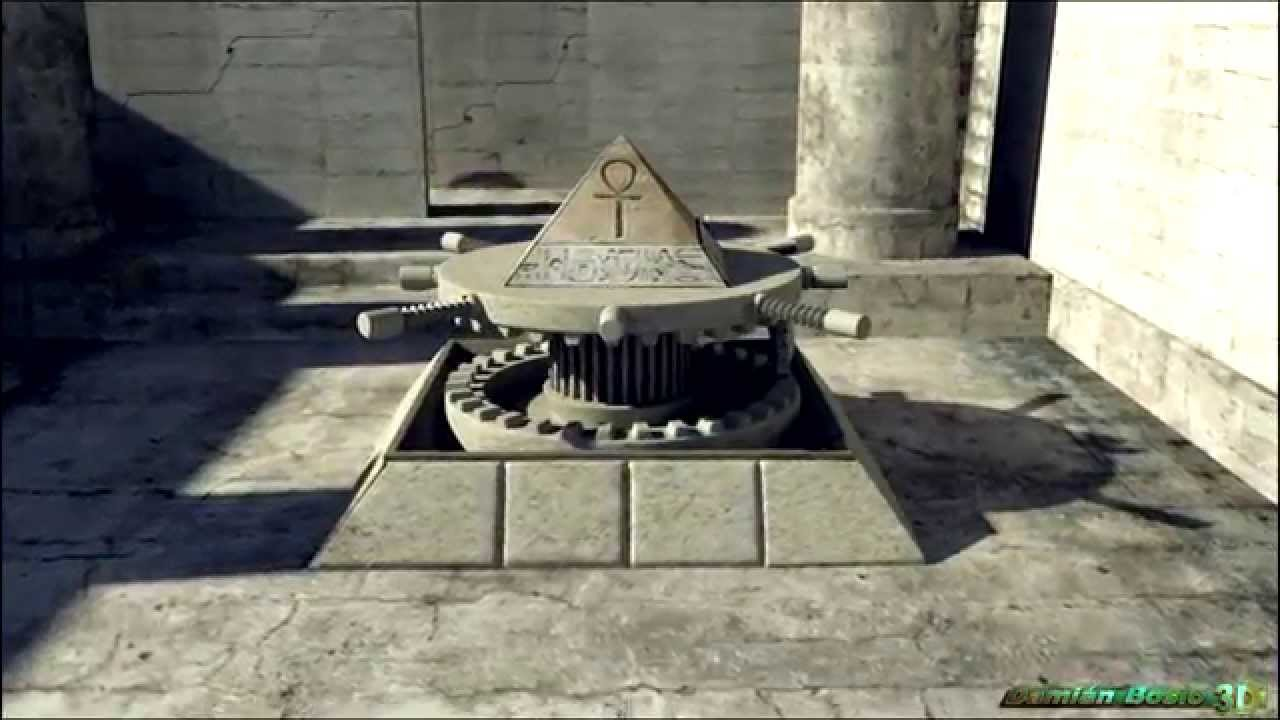 Interior piramide keops 3d concept youtube - Interior de una piramide egipcia ...