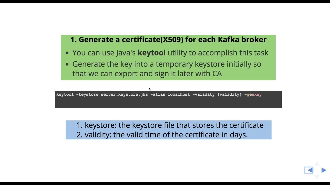 Creating Apache Kafka SSL Certificates Part 1 - YouTube