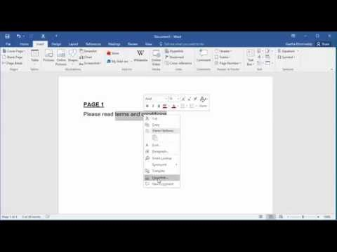 How do you show bookmarks in word 2020