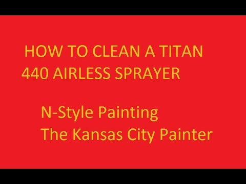 First Video How to Clean a titan 440 Airless Paint Sprayer