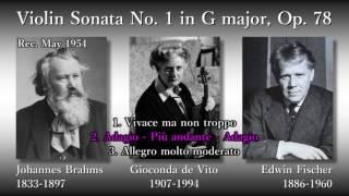 Brahms: Violin Sonata No. 1, de Vito & Fischer (1954) ブラームス ヴァイオリンソナタ第1番 デ・ヴィート&フィッシャー