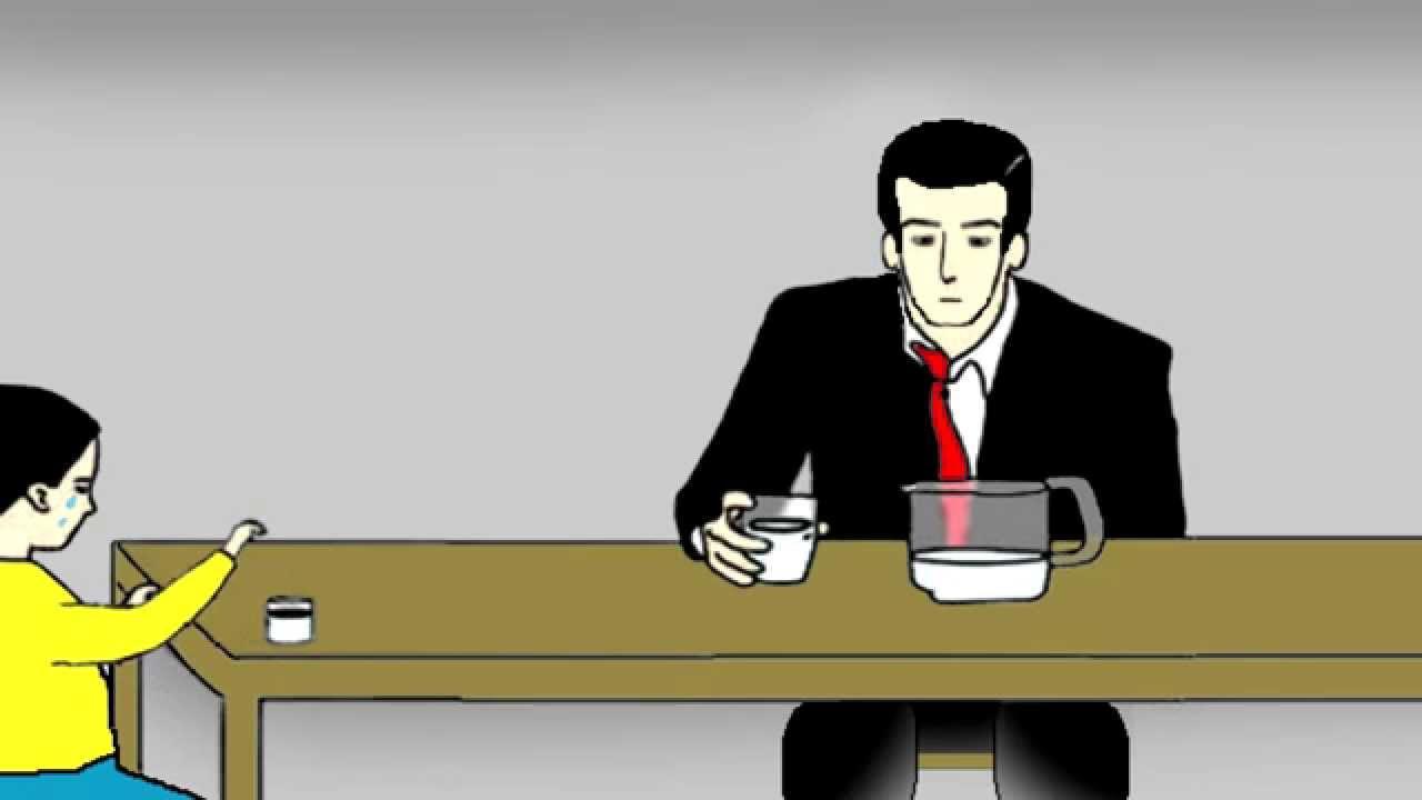 PAPÁ ¿SOMOS POBRES? Dibujo Animado 2d