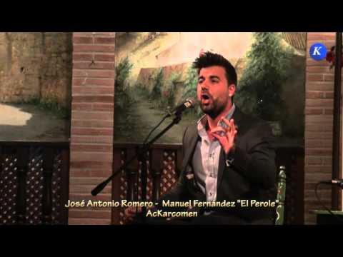 """Flamenco:Jose A Romero y Manuel Fdez """"ElPeroles"""" por cantiñas #Carmona XXXII Concurso Nacional Cante"""
