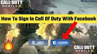 Call Of Duty Game Facebook se sign in kaise kare | How to sign in Call of Duty game with Facebook.