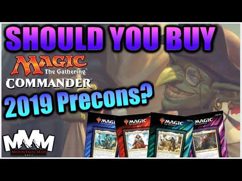 MTG Commander 2019 Decks - Should You Buy Them!? Reviewing C19 Magic