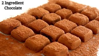 Condensed Milk Chocolate Truffles Easy Recipe Only 2 Ingredients | Homemade Chocolate