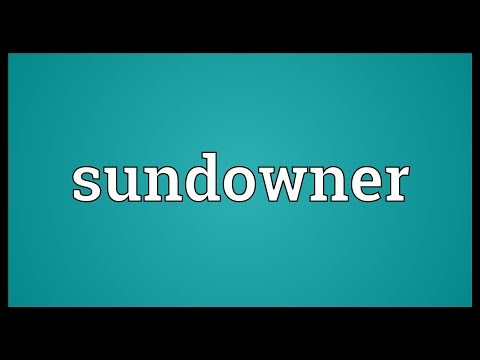 Sundowner Meaning