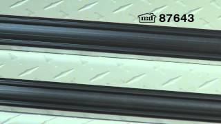 Universal Aluminum & Rubber Garage Door Bottom - 9' #87643