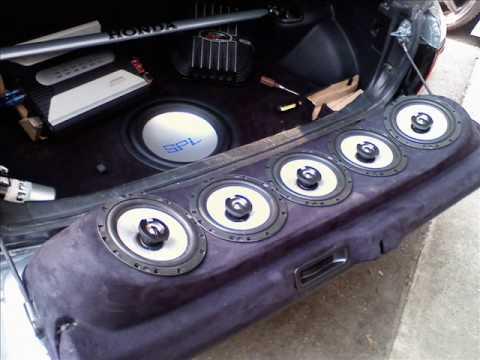 92 95 civc hatch pat black design tail gate speaker slide. Black Bedroom Furniture Sets. Home Design Ideas