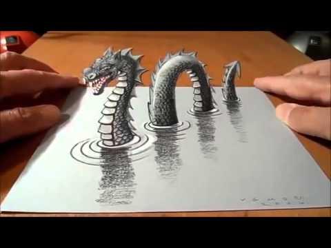 dibujo de el gran dragon 3D  YouTube