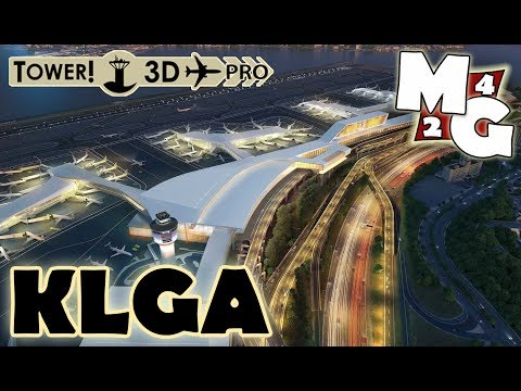 NEW TOWER3D PRO DLC!!! | LGA- LaGuardia International Airport at NIGHT