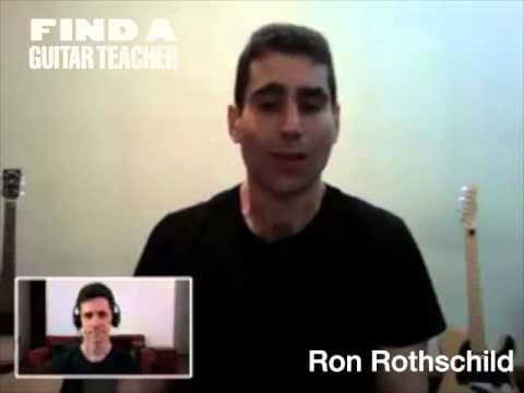 New York City Guitar Teacher Ron Rothschild Gives Guitar Lessons in Manhattan
