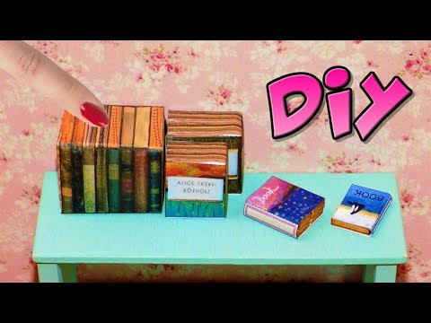 DIY Miniature Books 📚 How to Make LPS Crafts Stuff Barbie Doll Accessories Dollhouse Things