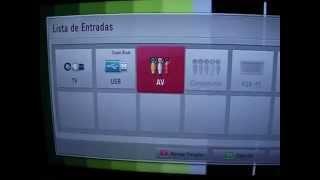 TV lg funções Atalho auxiliar pen drive dvd tv