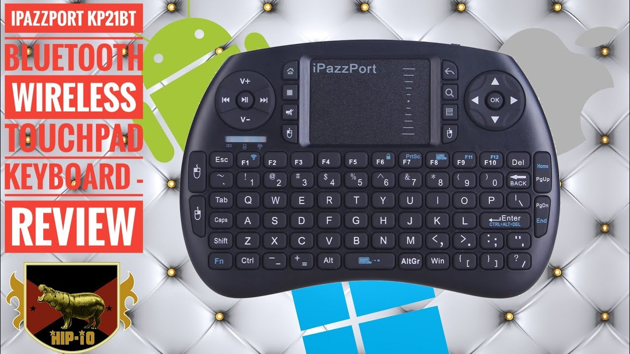 9cac3f3ff9c iPazzPort KP21BT Bluetooth Wireless Touchpad Keyboard - Review - YouTube