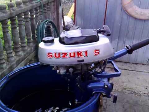 Suzuki 4 5 Hp Outboard Motor 1977r 2 Stroke Dwusuw Youtube