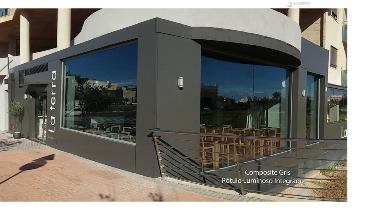 Revestimiento fachadas comerciales youtube - Revestimientos de fachadas ...