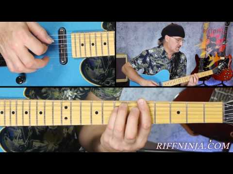 Guitar Lesson : Blue Jean Blues by ZZ Top ( Jeff Healey version )