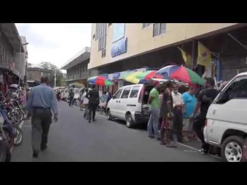 Market Street in Mauritius, Port Louis.