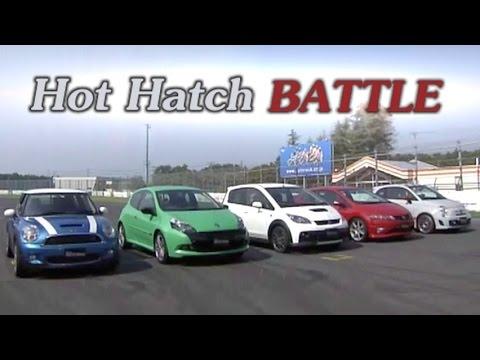 [ENG CC] Hot Hatch Battle 2010 - Civic R, Clio RS, Colt R, Cooper S, Abarth 500 Tsukuba