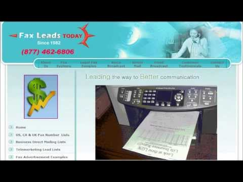 Fax Broadcasting Service And Fax Lists In Cupertino, California..