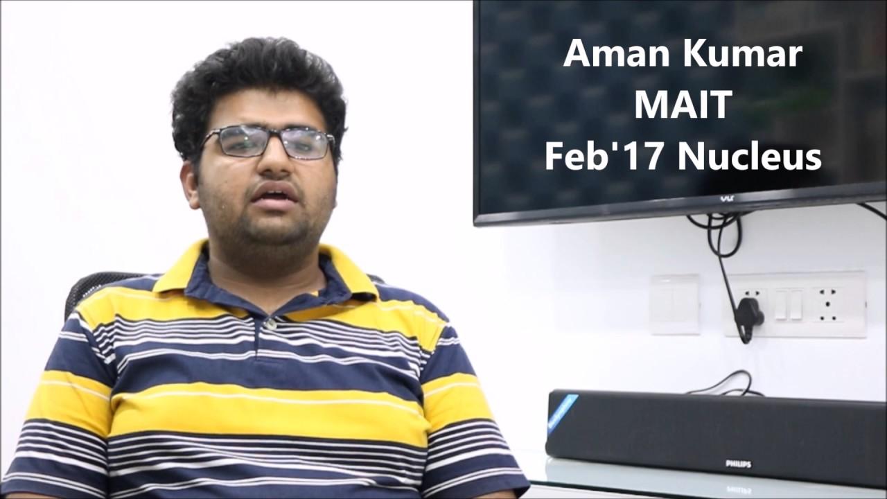 Aman Kumar shares his experience of doing Nucleus course at Coding Ninjas