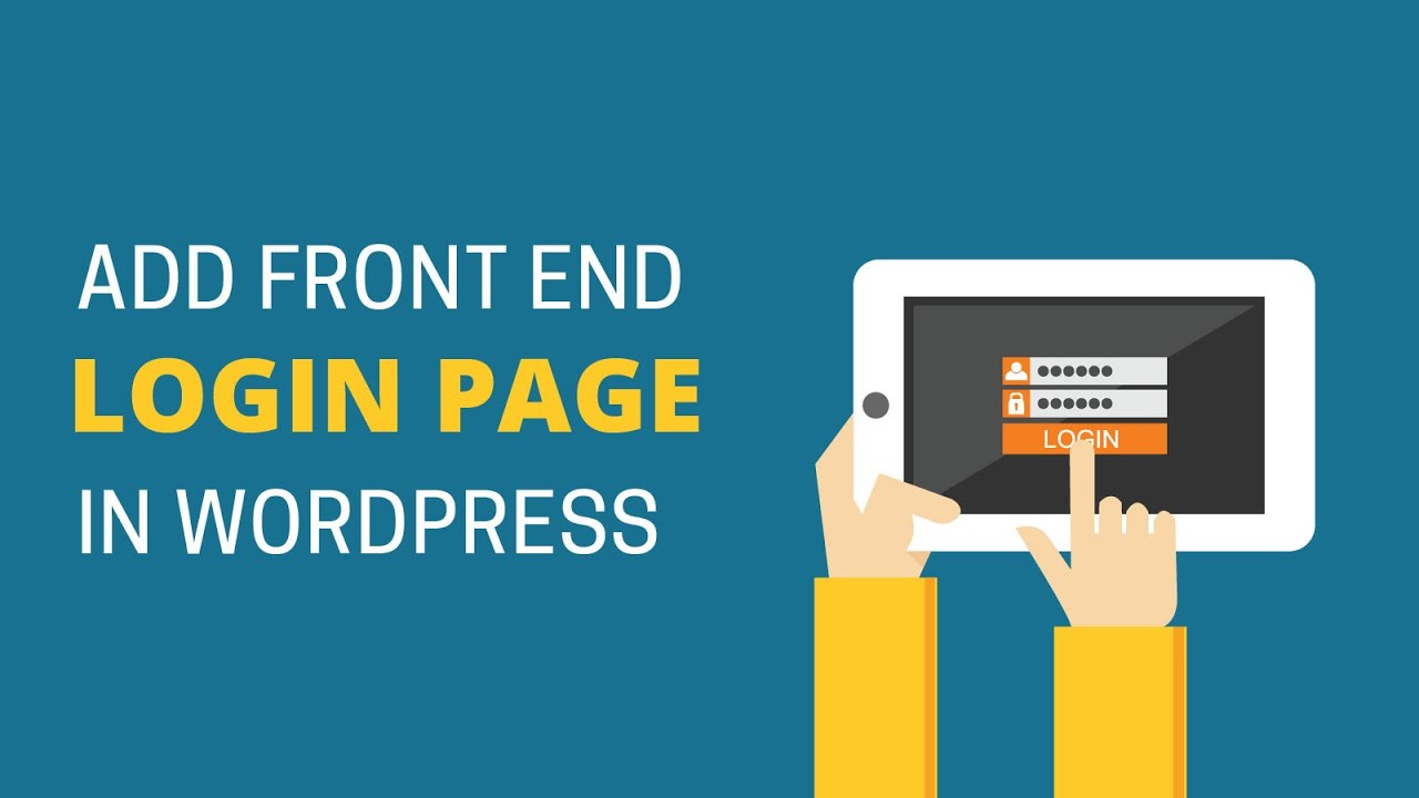 How To Add Front End Login Page And Widgets In Wordpress Youtube