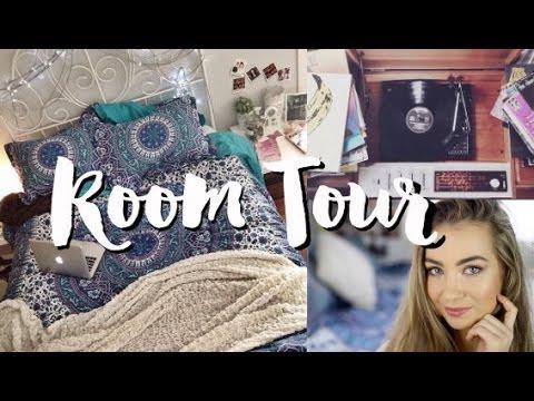 Boho Tumblr Inspired Room Tour 2015 | beautybyasha