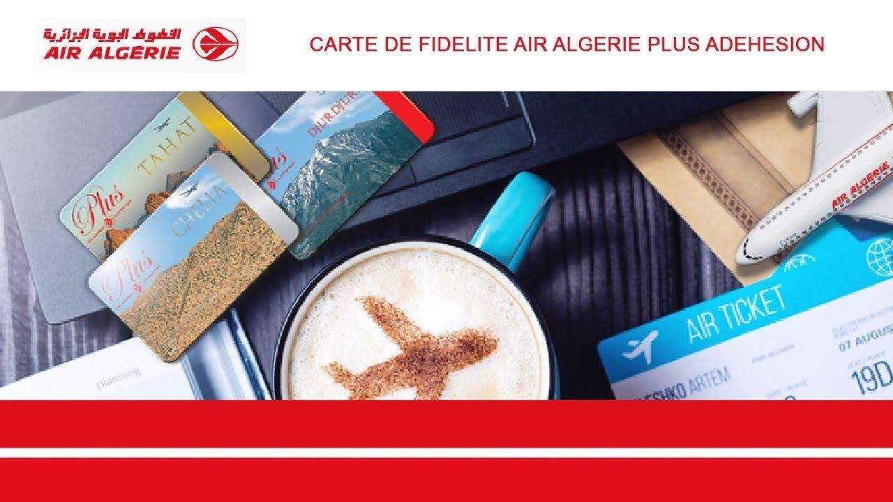 Carte Fidelite Algerie.Air Algerie Plus Carte De Fidelite Adehesion