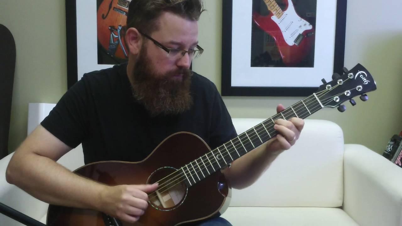 Bearded Man Plays Blues On Cute Guitar