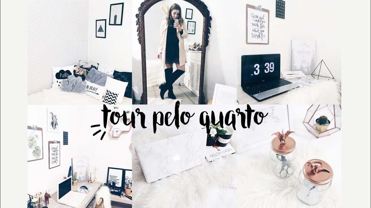 Tour pelo quarto decor pinterest e tumblr inspired youtube for Fotos pinterest