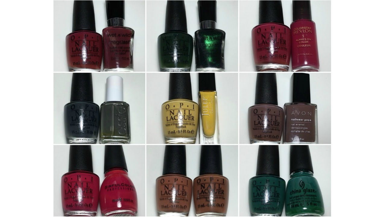 OPI Washington DC | Full Collection with Dupes & Comparisons - YouTube
