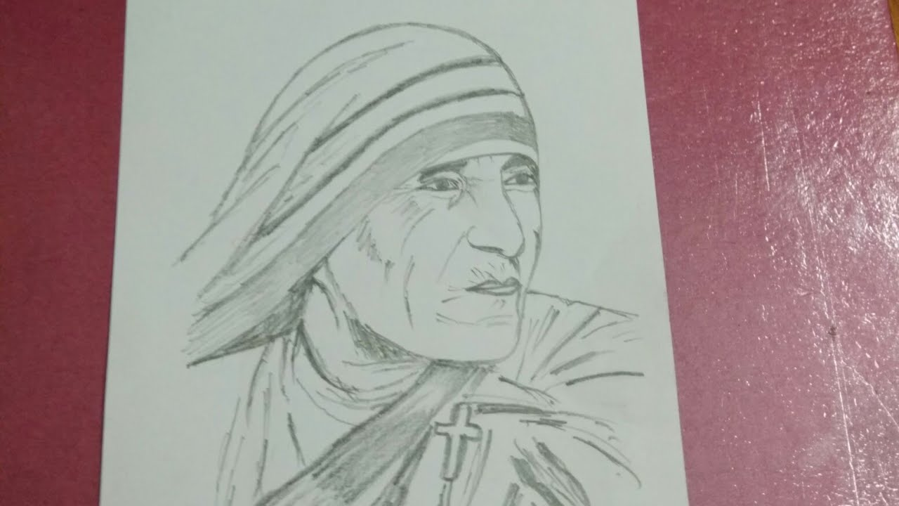 Drawing mother teresa view in full screen for better result