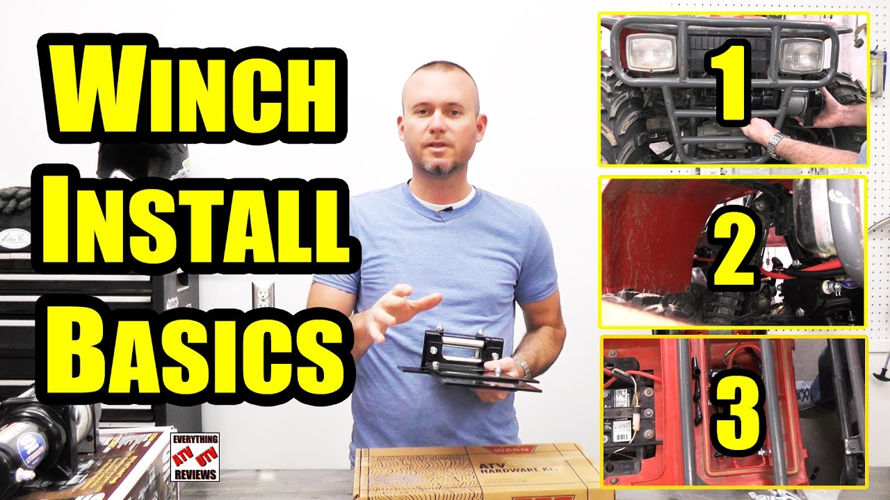 How To Install An Atv Winch Youtube Champion Switch Wiring Diagram