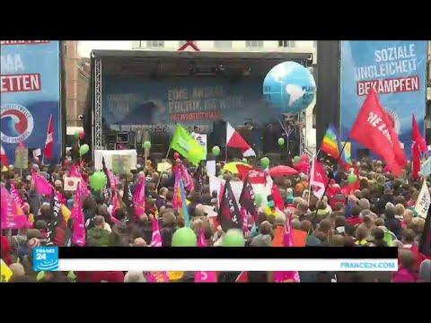 مظاهرات في هامبورغ قبل قمة العشرين