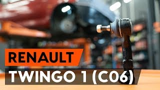 How to change Accessory Kit, disc brake pads TWINGO I (C06_) - step-by-step video manual