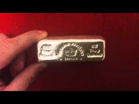 25 Oz Silver Bar From Monarch Precious Metals Youtube