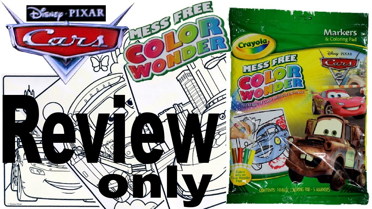 Full Coloring Book Review - Disney Cars - Crayola Color Wonder Mess Free  For Kids