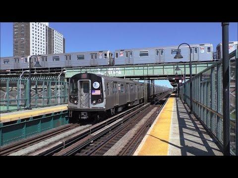 NYC Subway HD 60fps: R143 & R160A L Trains & R62 3 Trains @ Livonia Avenue (4/23/17)