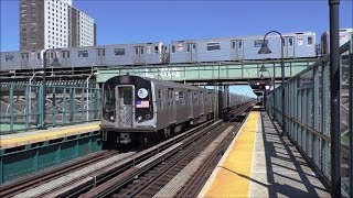 NYC Subway HD 60fps: R143 & R160A L Trains & R62 3 Trains @ Livonia Avenue (4/23/17)