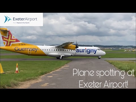 INCREDIBLY busy morning of PLANE SPOTTING at EXETER AIRPORT!   Harry's Aviation