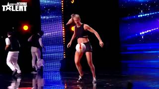 Watch Melody et sa team performing acrobatics football act on France s got talent
