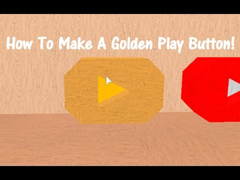 how to make a youtube play button easy