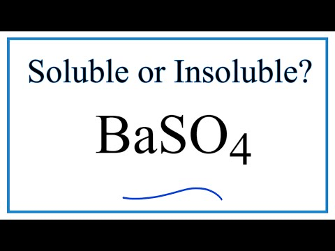 Is BaSO4 Soluble Or Insoluble In Water?