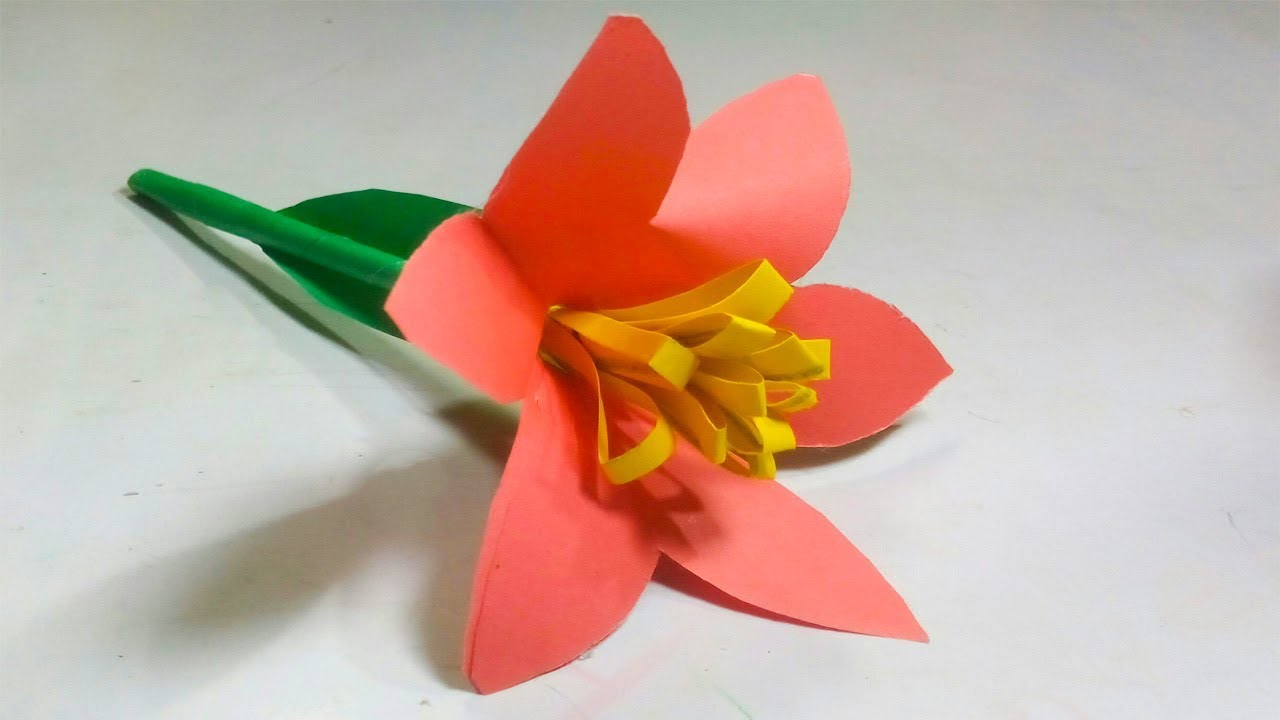 Easy Two Type Of Stick Flowers Origami Flowers Beautyfull Paper