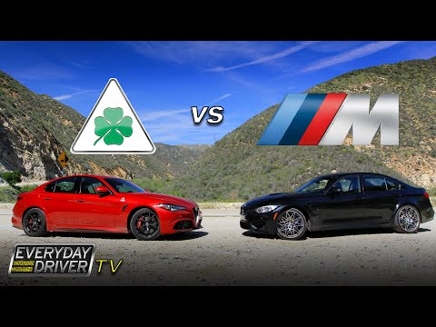 Alfa Giulia QF challenges BMW M3 on Amazing Road - Everyday Driver TV episode
