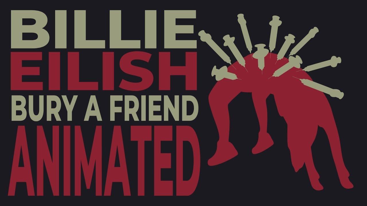 Billie Eilish - bury a friend (Animated Lyrics) image