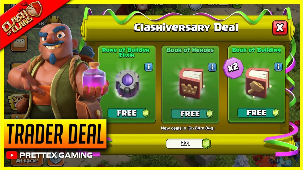New Update - Upcoming Clashiversary Deal Event Confirm Rewards - Clash of Clans!